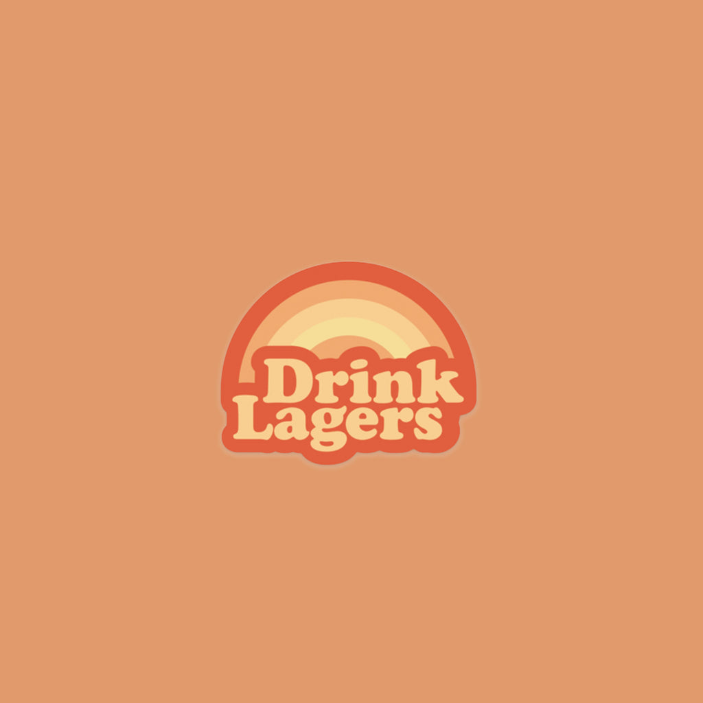 Drink Lagers Sticker