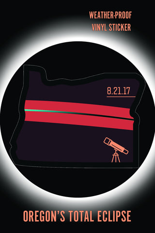 Oregon Total Eclipse Sticker