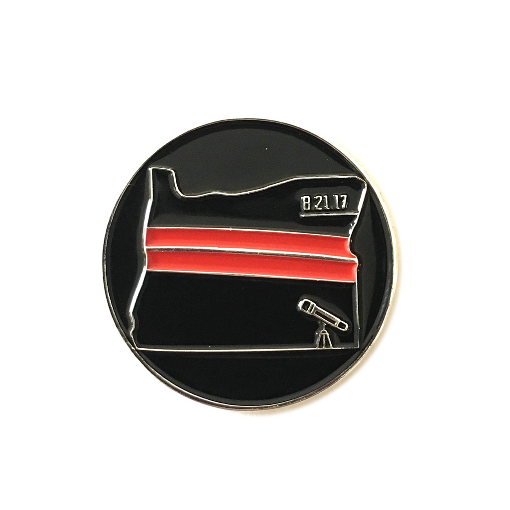"Oregon ""Total Eclipse"" Enamel Pin"