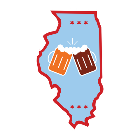 "Illinois ""Beer Together"" Sticker"