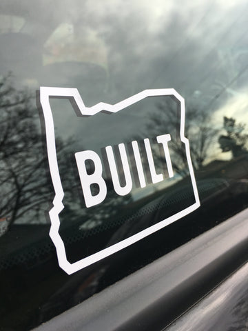 "Built Oregon - 4"" Weatherproof Transfer Sticker"