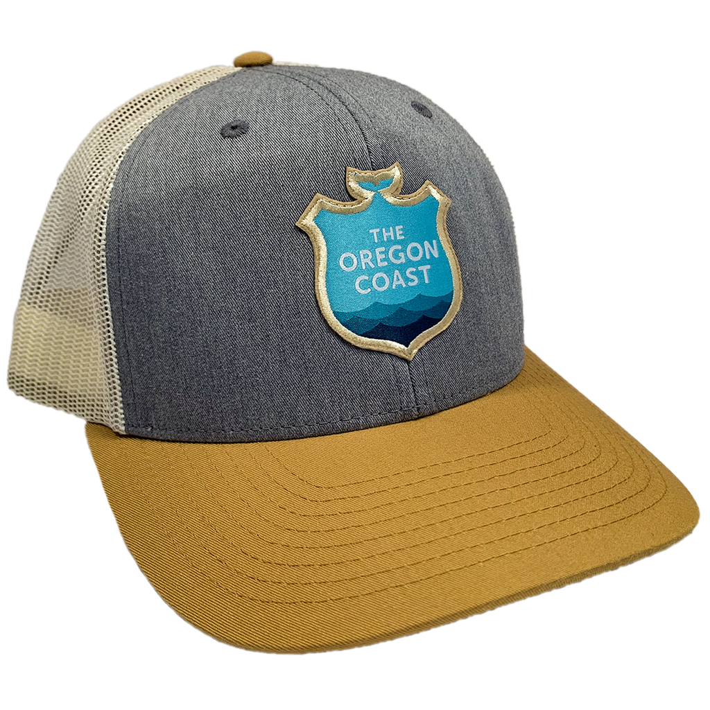 Official Logo Trucker Hat - Heather Grey / Biscuit