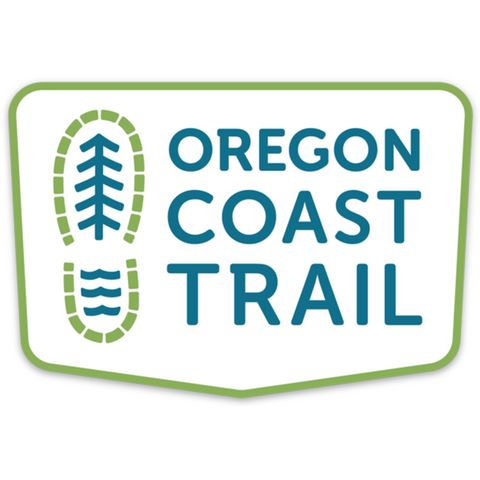 "Oregon Coast Trail 4"" Sticker"
