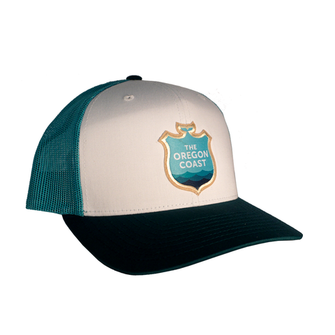 Official Logo Trucker Hat - Teal/White
