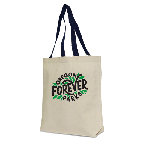 "Oregon Parks Forever ""Leaf"" Canvas Tote."