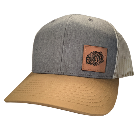 Oregon Parks Forever - Leather Patch Trucker