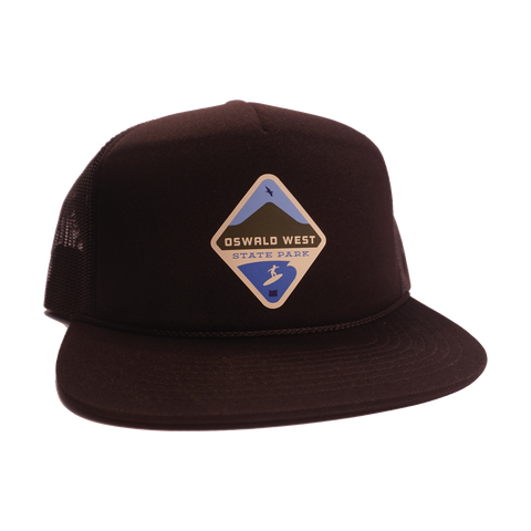 Oswald West Youth Foamie Trucker - Black