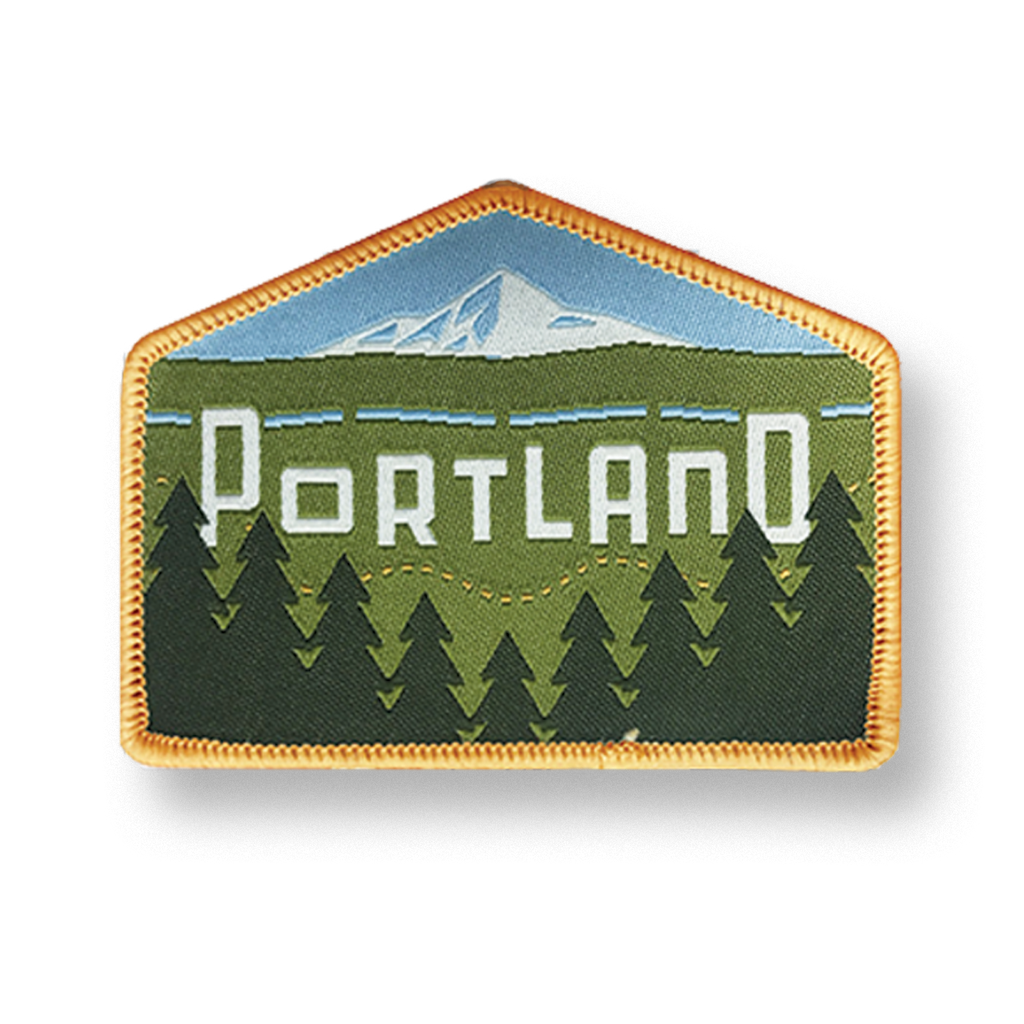 "Portland Skyline ""East"" Iron-on Patch"