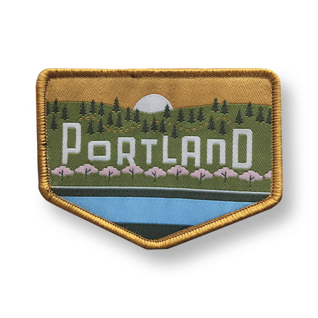 "Portland Skyline ""West"" Iron-on Patch"