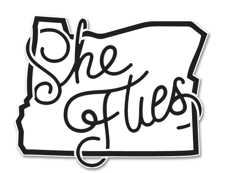 "She Flies- 3"" Weatherproof Sticker"
