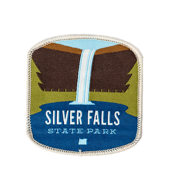 "Silver Falls State Park 3"" Iron-on Patch"