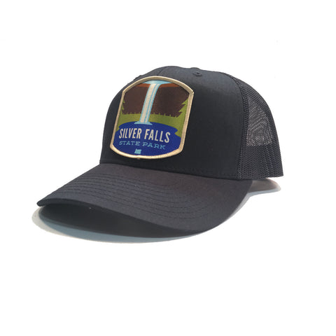 Silver Falls State Park - Retro Snap Back Trucker Hat