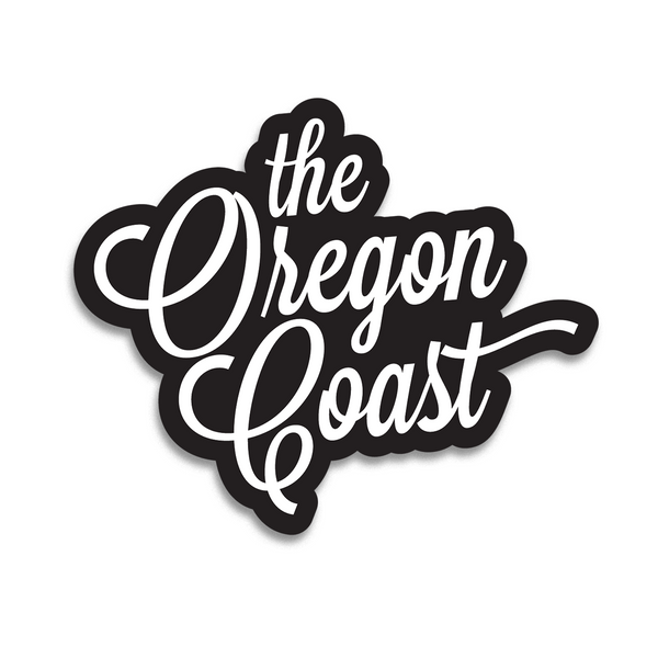 """The Oregon Coast"" 4-inch Script Sticker (3 color options)"