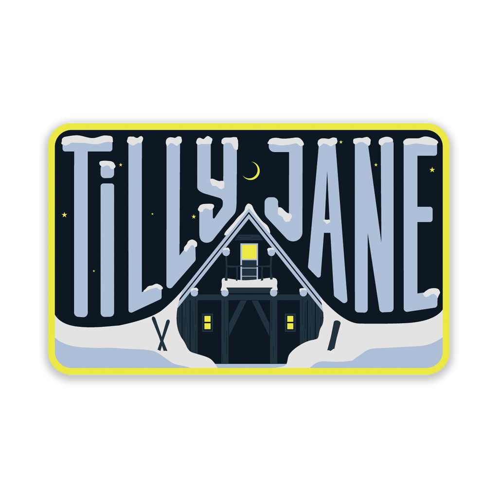 Tilly Jane A-Frame Weatherproof Sticker
