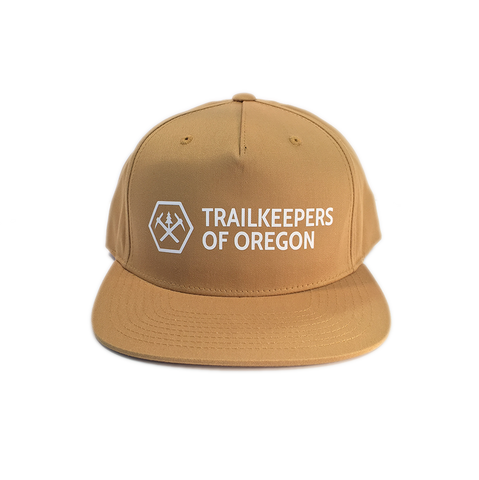 Trailkeepers Logo Snapback Hat, Gold