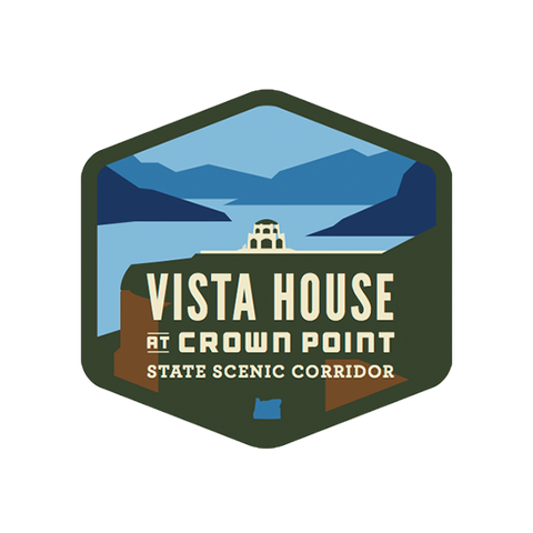 Vista House at Crown Point Vinyl Sticker