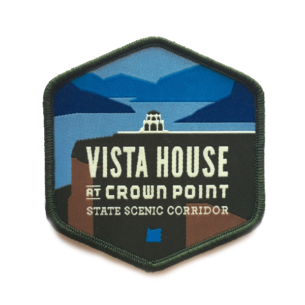 "Vista House at Crown Point 3"" Iron-on Patch"