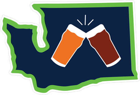 "Washington ""Beer Together"" Sticker"