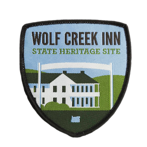 "Wolf Creek Inn State Heritage Site 3"" Iron-on Patch"