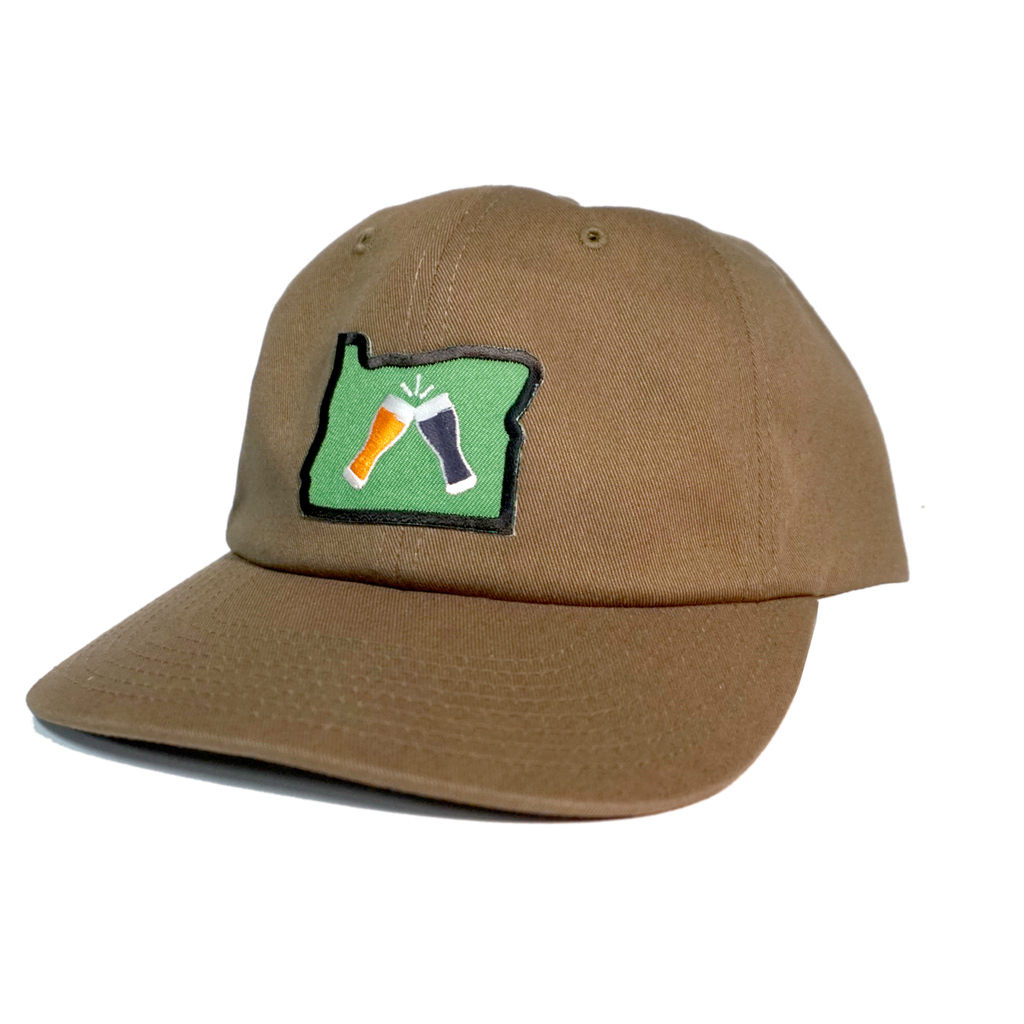 Beer Together Patched Dad Hat - Loden Green