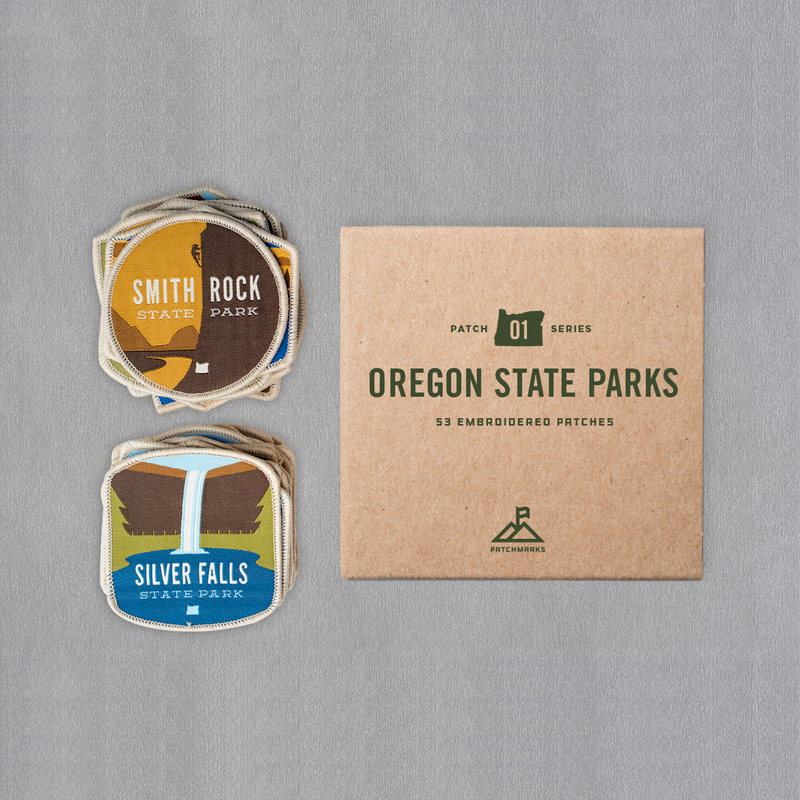 Box Set of (59) Oregon State Park Patches