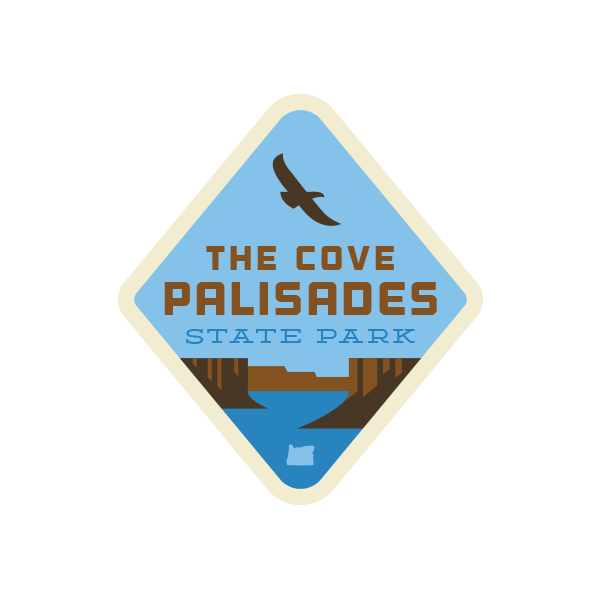 The Cove Palisades State Park Sticker (Hawk)