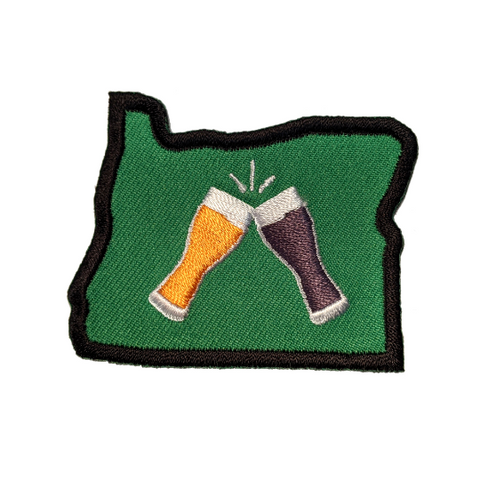 "Oregon ""Beer Together"" Embroidered Iron-on Patch"