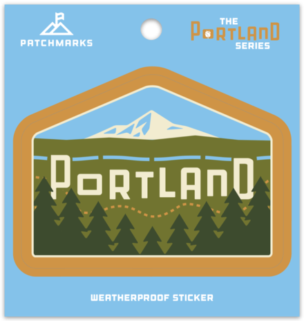 "Portland Skyline ""East"" Weatherproof Vinyl Sticker"