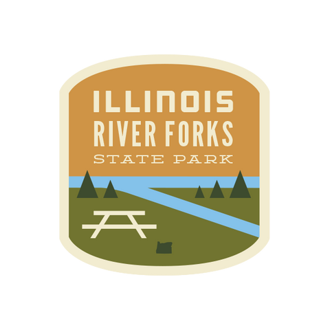 Illinois River Forks State Park Sticker
