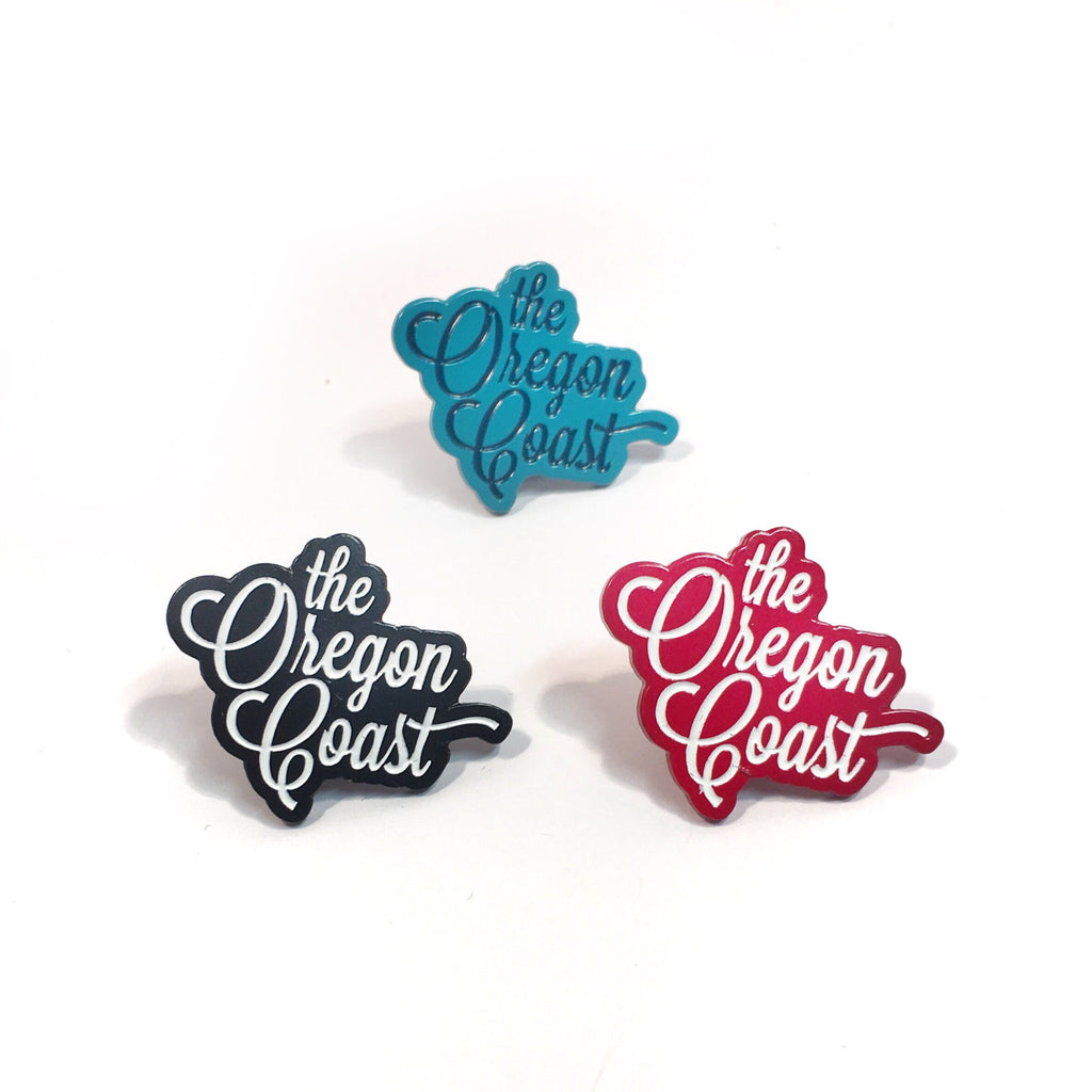 The Oregon Coast Script Enamel Pin