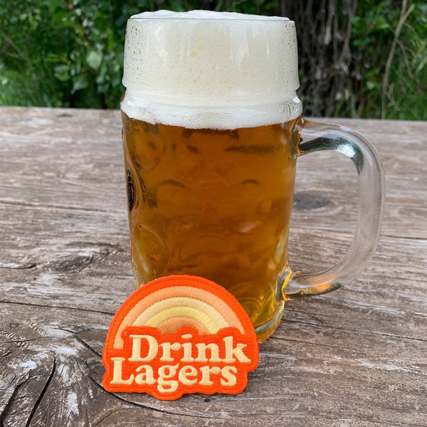 Drink Lagers Embroidered Iron-on Patch