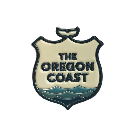 Official Logo of The Oregon Coast Enamel Pin