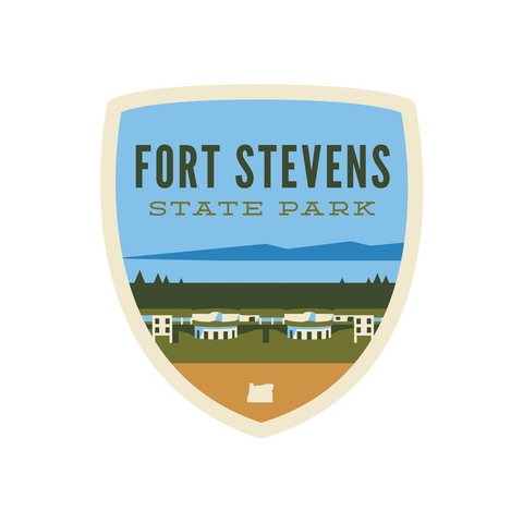 "Fort Stevens State Park ""Battery"" Sticker"