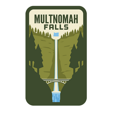 Multnomah Falls Sticker