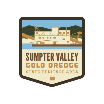 Sumpter Valley Gold Dredge State Heritage Area Sticker