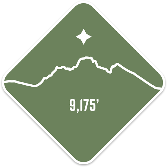 Broken Top - Cascade Range Summit Series Weatherproof Sticker