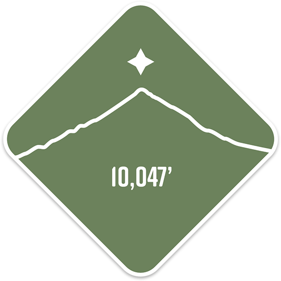 Middle Sister - Cascade Range Summit Series Weatherproof Sticker
