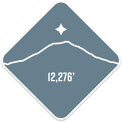 Mt. Adams - Cascade Range Summit Series Weatherproof Sticker