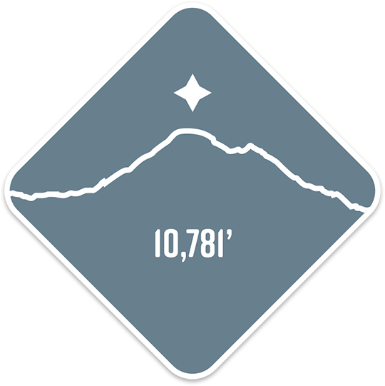 Mt. Baker - Cascade Range Summit Series Weatherproof Sticker