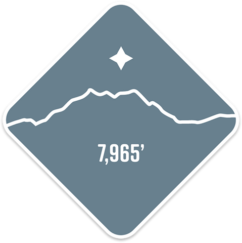 Mt. Olympus - Cascade Range Summit Series Weatherproof Sticker