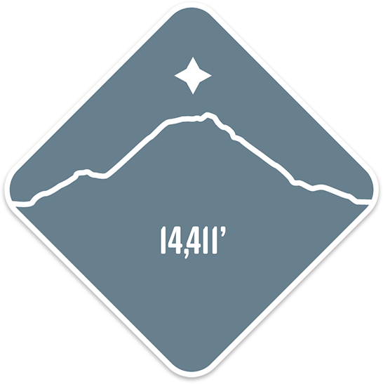 Mt. Rainier - Cascade Range Summit Series Weatherproof Sticker