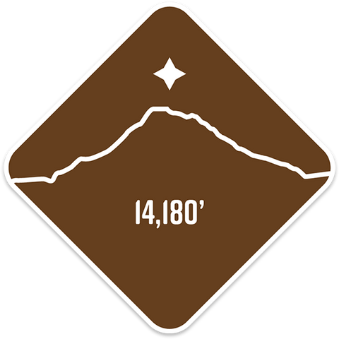 Mt. Shasta- Cascade Range Summit Series Weatherproof Sticker
