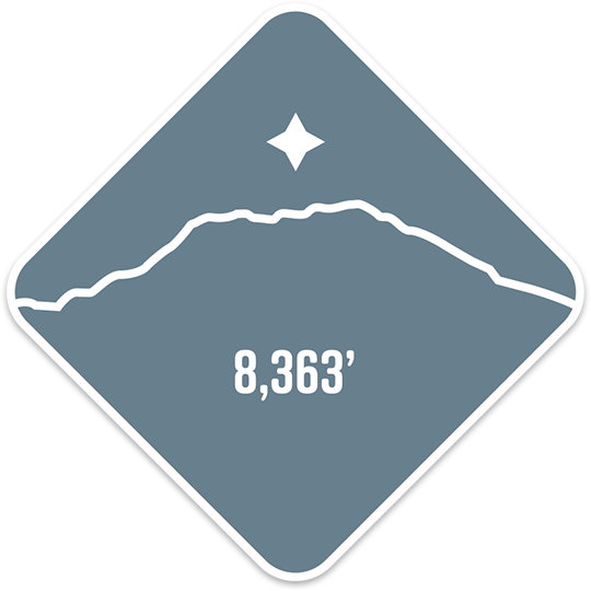 Mt. Saint Helens - Cascade Range Summit Series Weatherproof Sticker