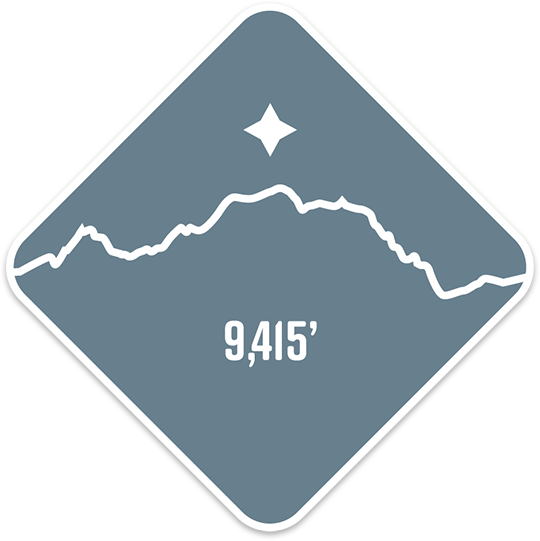 Mt. Stuart - Cascade Range Summit Series Weatherproof Sticker