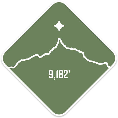 Mt. Thielsen - Cascade Range Summit Series Weatherproof Sticker