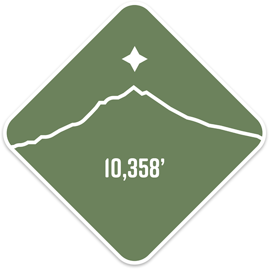 South Sister- Cascade Range Summit Series Weatherproof Sticker