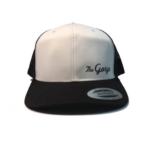 The Gorge, White Retro Trucker Snapback Hat