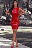 Dita Latex Dress In Red