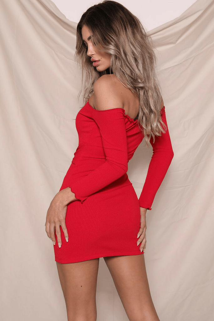 Jennifer Mini Dress In Red