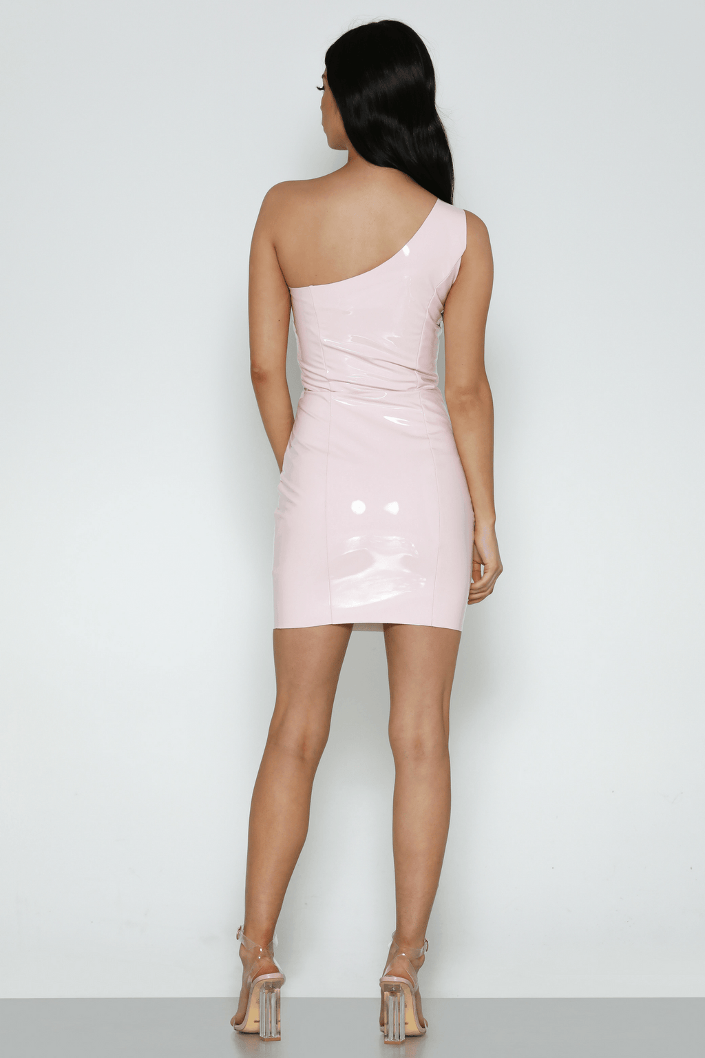 Polly Latex Dress In Pink - Bad AF Fashion